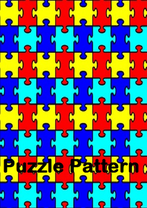 HTV - Heat Transfer Vinyl in the Puzzle Pattern - Autism Awareness– 18″ with TTD High Tack Mask
