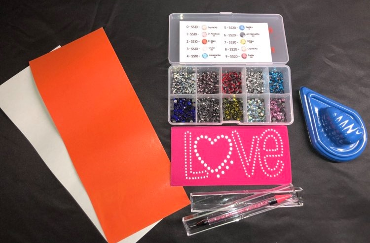 Heat Transfer - Iron On 'Rhinestones' -  Starter Pack  -  add some Bling to any Design