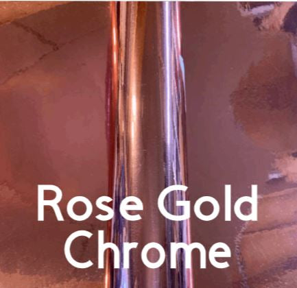 Rose Gold Chrome Permanent Outdoor Adhesive Vinyl