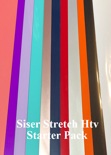 Siser Stretch Htv Starter Pack, one of every 12 colours