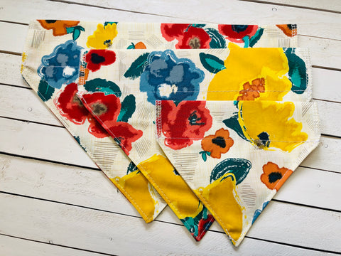 FLOWER PATCH DOG BANDANA