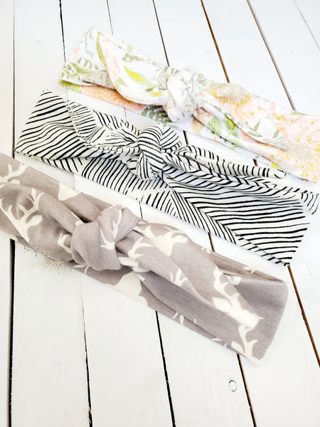 SET OF THREE TOP KNOT HEADBANDS (LIGHT AND AIRY COLLECTION)