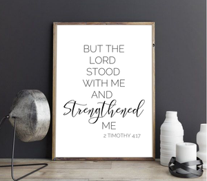 2 TIMOTHY 4:17 FARMHOUSE PRINT (WHSL)