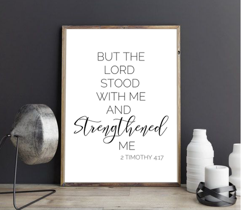 2 TIMOTHY 4:17 FARMHOUSE PRINT