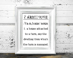 FARMHOUSE FARMHOUSE PRINT