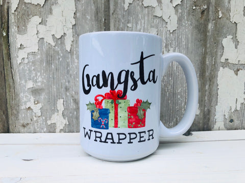 GANGSTA WRAPPER CHRISTMAS MUG
