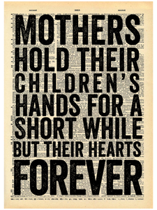 MOTHERS HOLD THEIR CHILDREN'S DICTIONARY PRINT