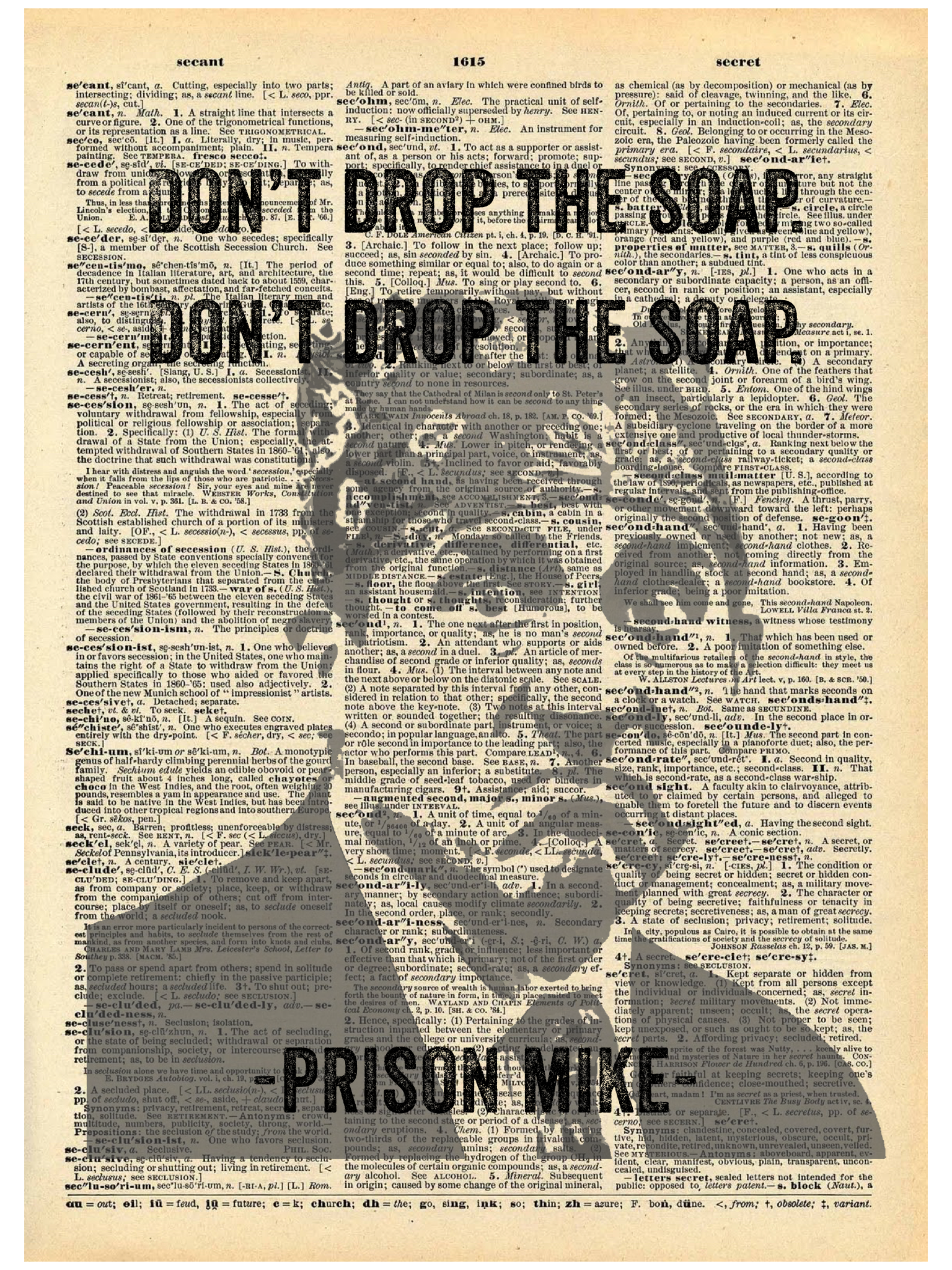 PRISON MIKE DICTIONARY PRINT (WHSL)