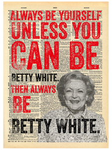 BETTY WHITE DICTIONARY PRINT