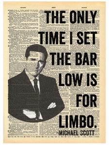 MICHAEL SCOTT LIMBO QUOTE DICTIONARY PRINT (WHSL)