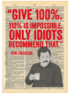 RON SWANSON QUOTE DICTIONARY PRINT