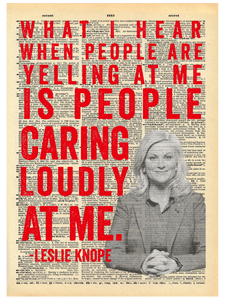 LESLIE KNOPE QUOTE DICTIONARY PRINT