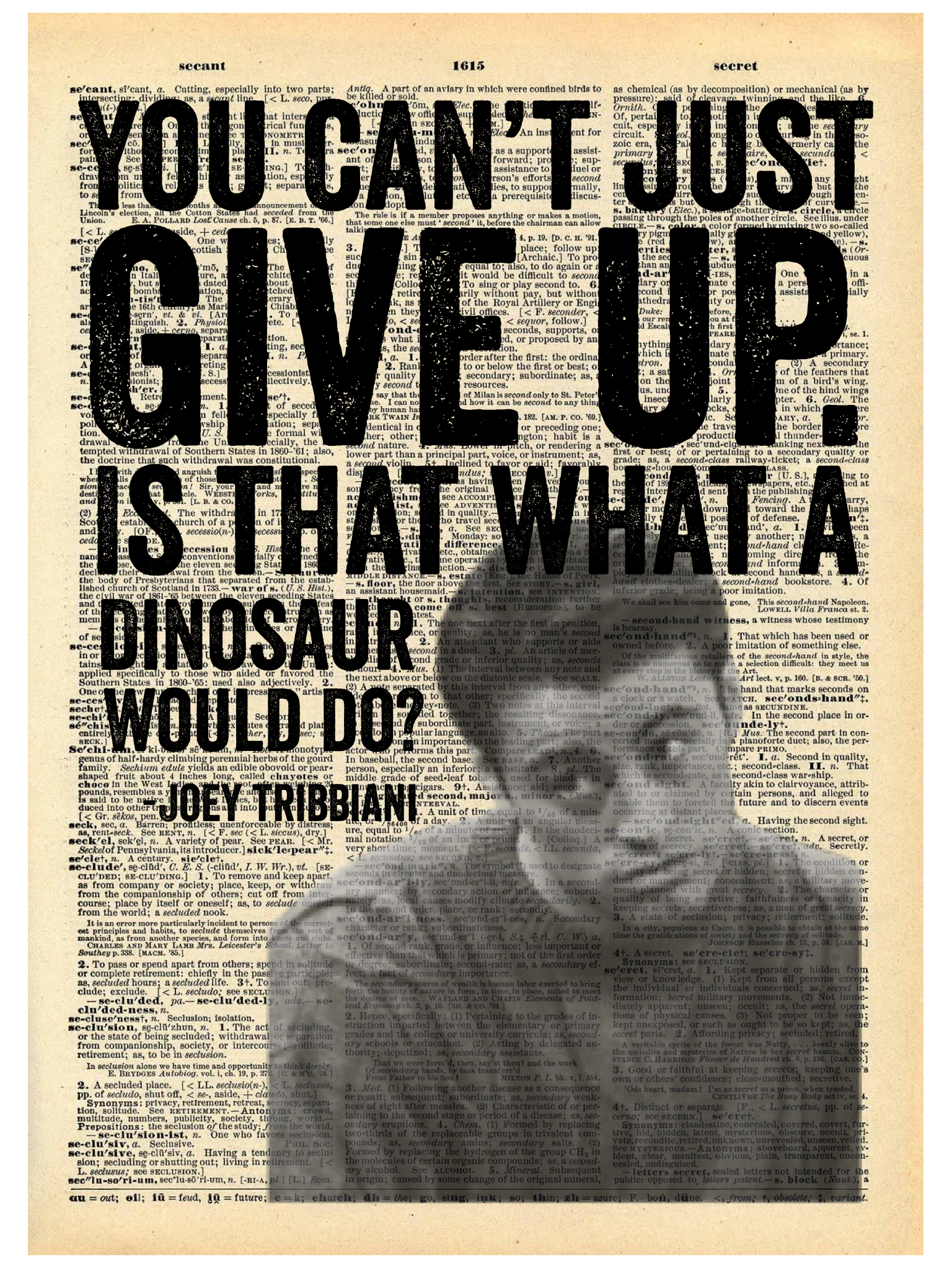 JOEY TRIBBIANI QUOTE DICTIONARY PRINT (WHSL)