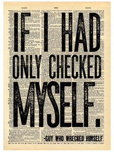 IF I HAD ONLY CHECKED MYSELF DICTIONARY PRINT (WHSL)
