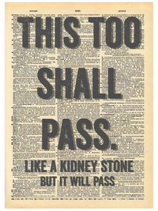 THIS TOO SHALL PASS DICTIONARY PRINT