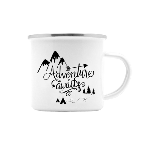 ADVENTURE AWAITS CAMP MUG