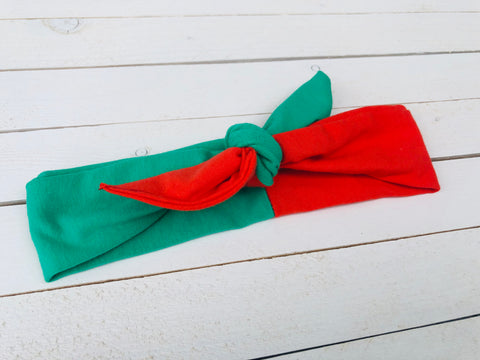 CHRISTMAS TOP KNOT HEADBAND