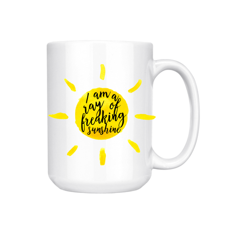 I AM A RAY OF FREAKING SUNSHINE MUG (WHSL)