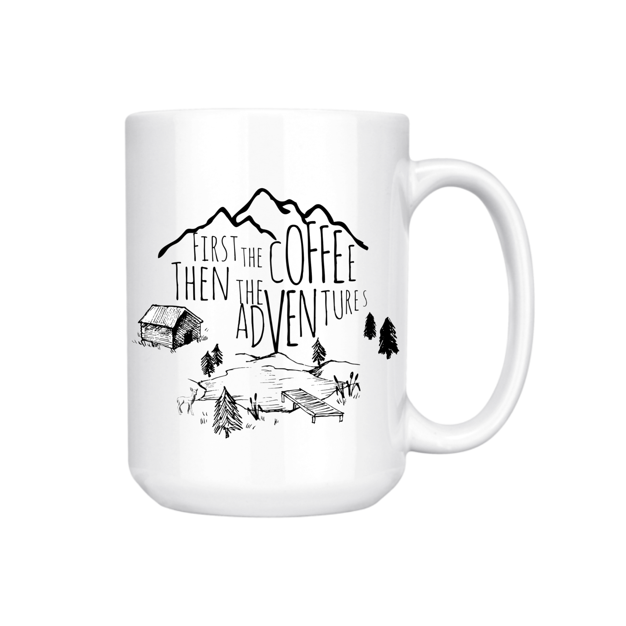 FIRST THE COFFEE THEN THE ADVENTURES MUG (WHSL)