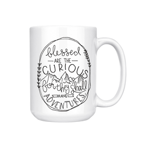 BLESSED ARE THE CURIOUS MUG (WHSL)