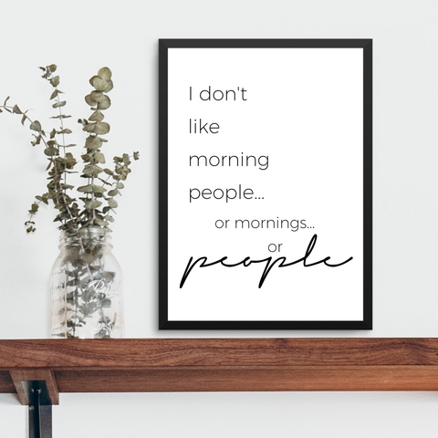 MORNING PEOPLE FARMHOUSE PRINT