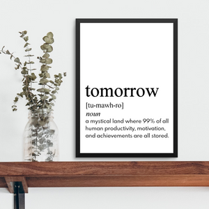 TOMORROW FARMHOUSE PRINT