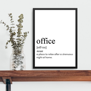 OFFICE FARMHOUSE PRINT (WHSL)