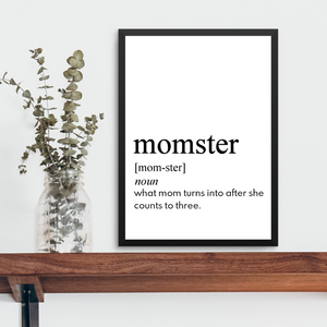 MOMSTER FARMHOUSE PRINT (WHSL)