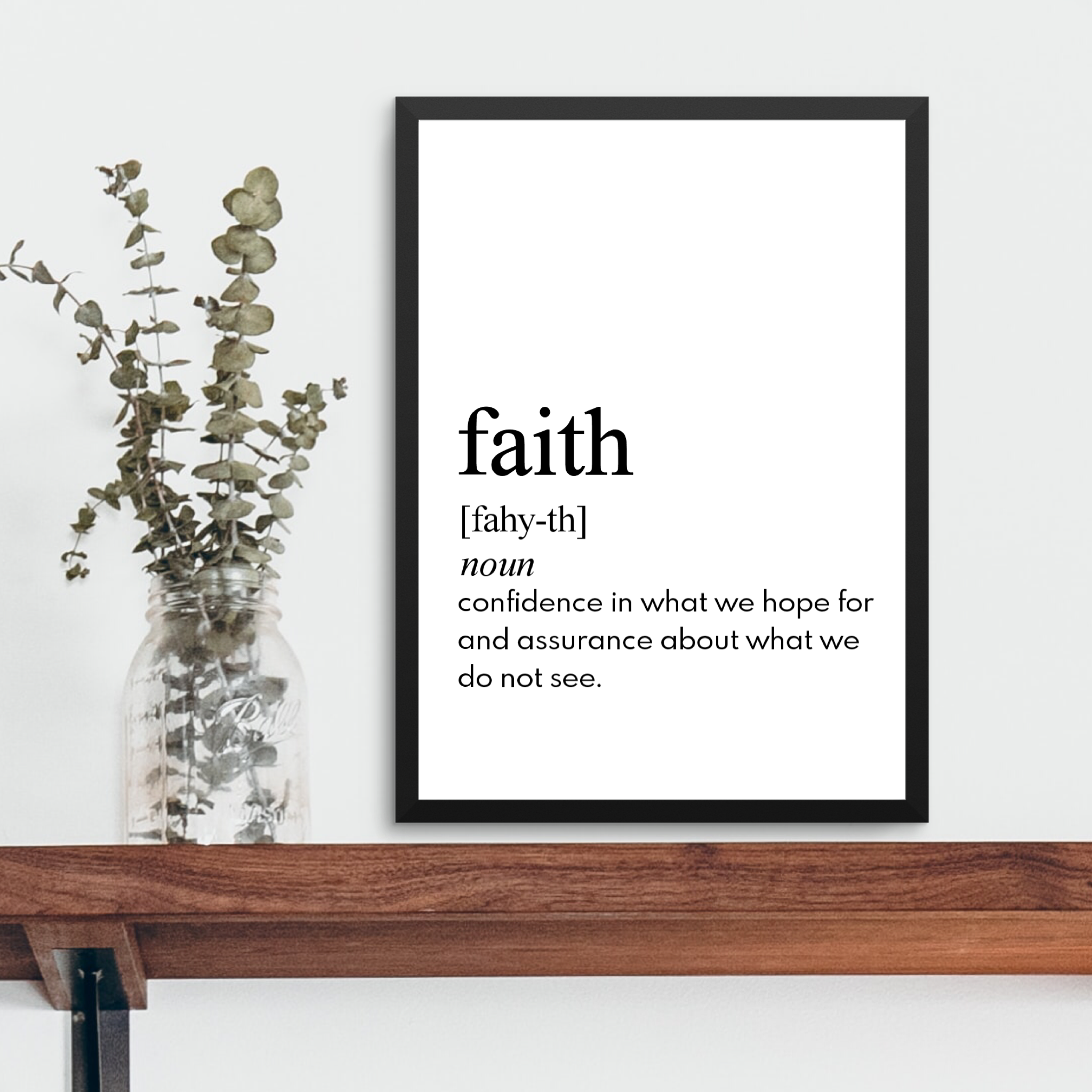 FAITH FARMHOUSE PRINT