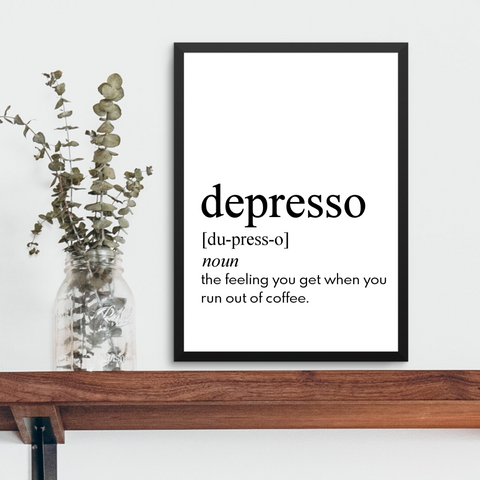 DEPRESSO FARMHOUSE PRINT