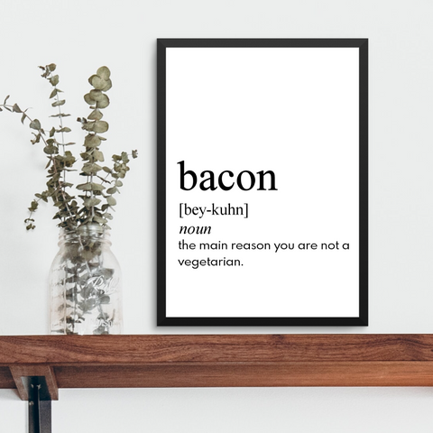 BACON FARMHOUSE PRINT