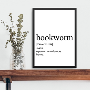 BOOKWORM FARMHOUSE PRINT (WHSL)