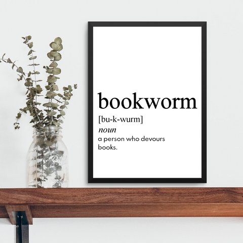 BOOKWORM FARMHOUSE PRINT