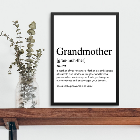 GRANDMOTHER FARMHOUSE PRINT