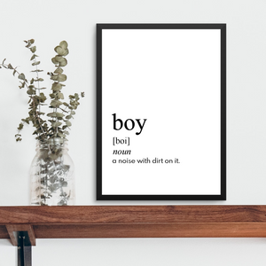 BOY FARMHOUSE PRINT