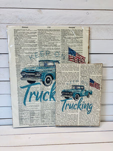 KEEP ON TRUCKING DICTIONARY PRINT