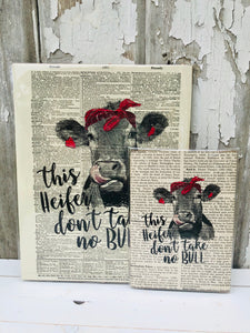 NO BULL DICTIONARY PRINT