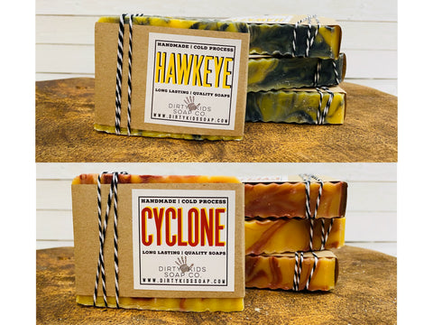 TEAM SPIRIT (IOWA & ISU) BAR SOAP (WHSL)