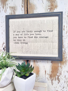 JOHN IRVING DICTIONARY PRINT (WHSL)