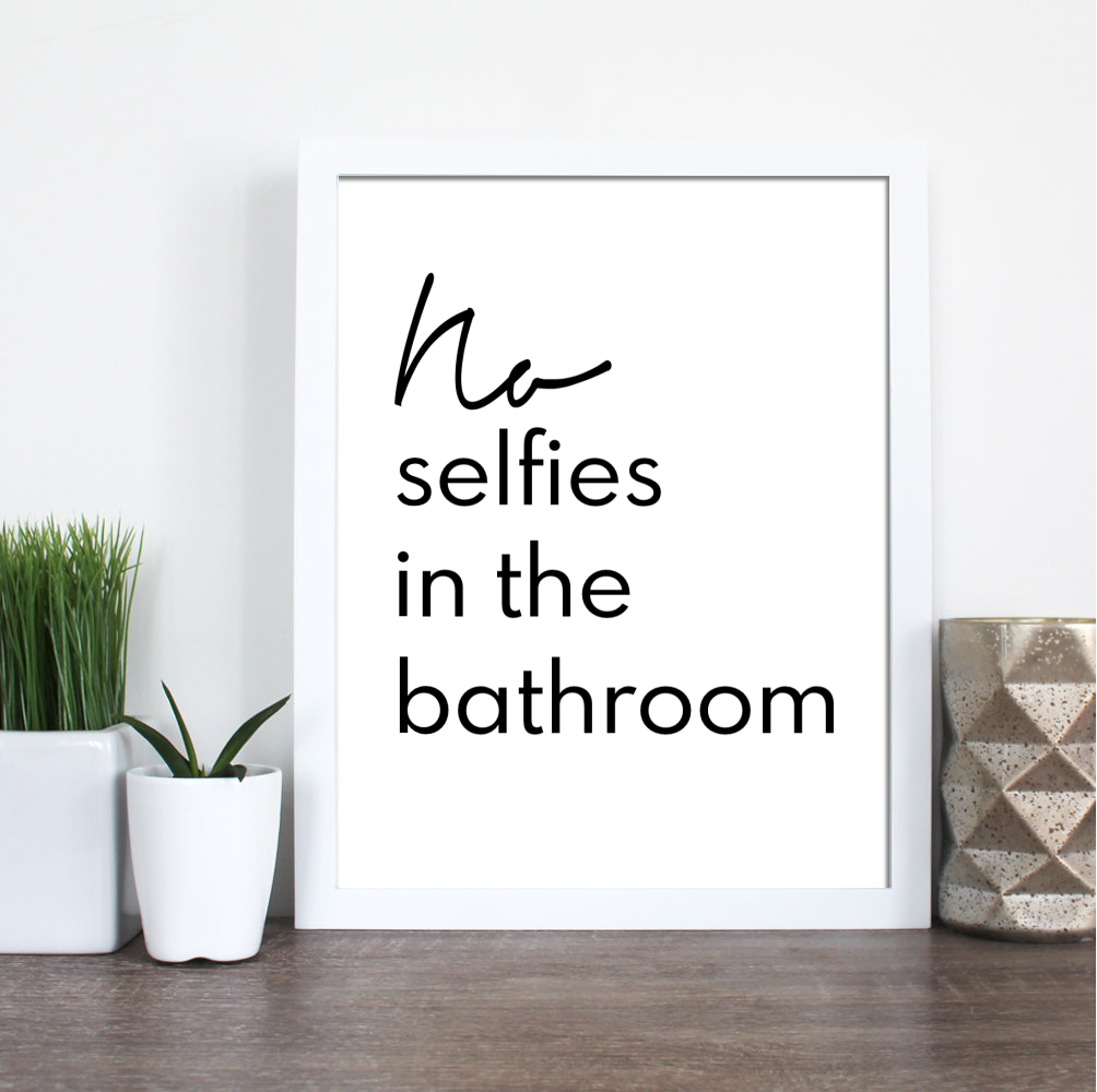 BATHROOM SELFIES FARMHOUSE PRINT (WHSL)