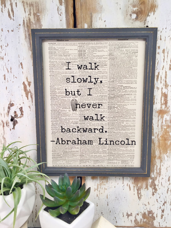 ABRAHAM LINCOLN DICTIONARY PRINT