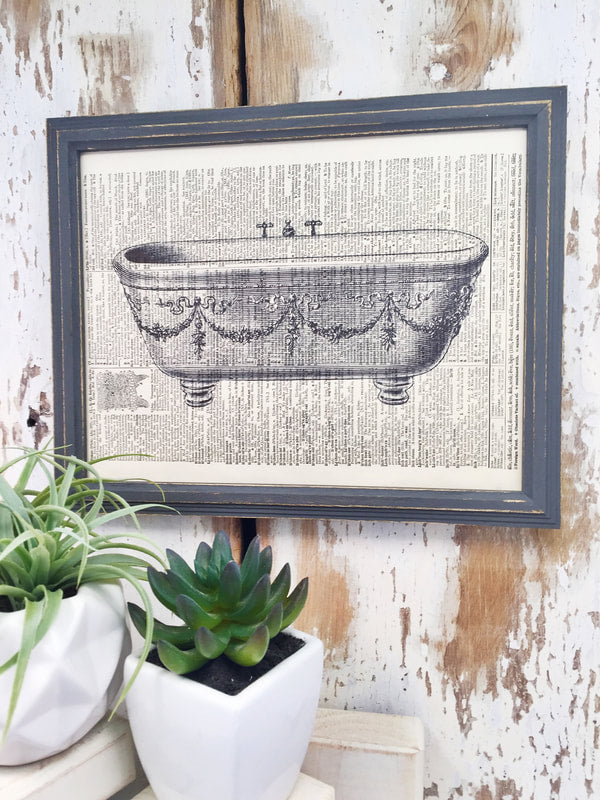 BATHTUB DICTIONARY PRINT (WHSL)