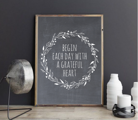 GRATEFUL HEART FARMHOUSE PRINT