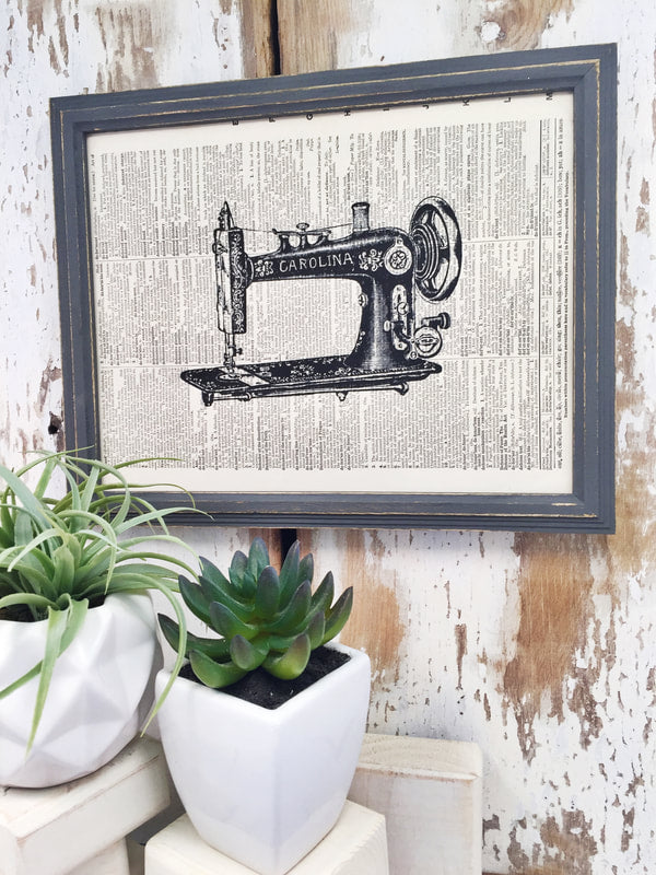 CAROLINA SEWING MACHINE DICTIONARY PRINT