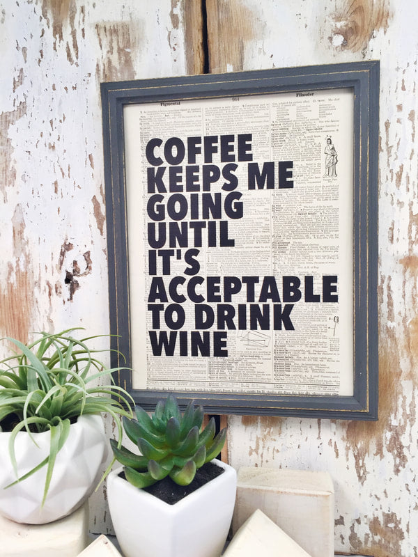 COFFEE TIL WINE DICTIONARY PRINT (WHSL)