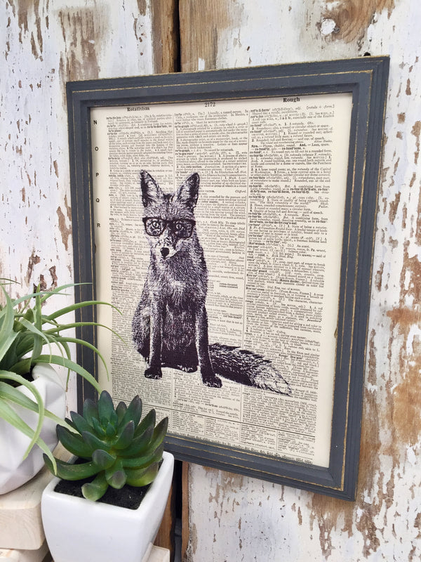 FOX DICTIONARY PRINT