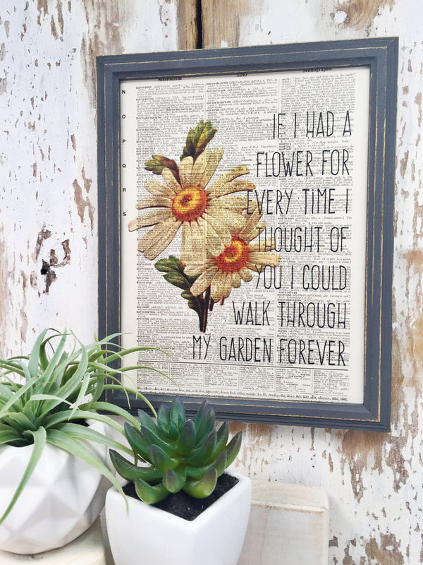 IF I HAD A FLOWER DICTIONARY PRINT (WHSL)