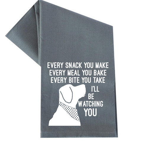 I'LL BE WATCHING YOU TEA TOWEL