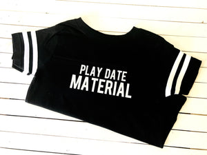 KID'S T-SHIRT PLAY DATE MATERIAL (WHSL)