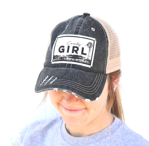 COUNTRY GIRL BALL CAP